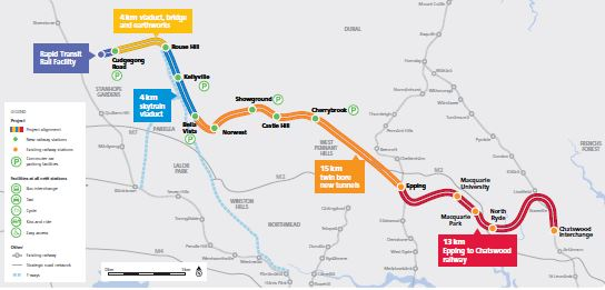 North West Rail Link Map North West Rail Link – all change at the 2019 election