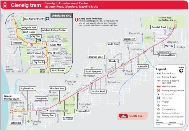 Adelaide Glenelg Tram Line