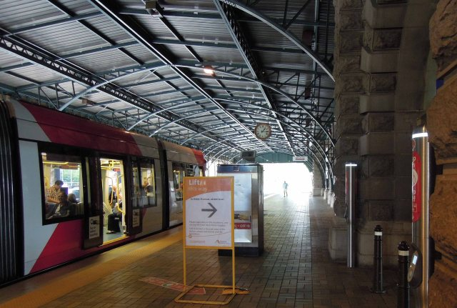 Sydney's inner west light rail Central terminus (author's photo)