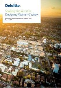 Deloitte designing western sydney report cover