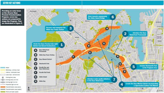 Map of the Bays Precinct (source: Urban Growth NSW)