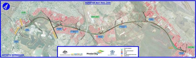 Moreton Bay rail link map (source: Queensland Government website)