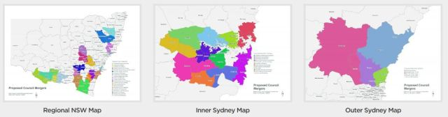 NSW Council Merger Maps