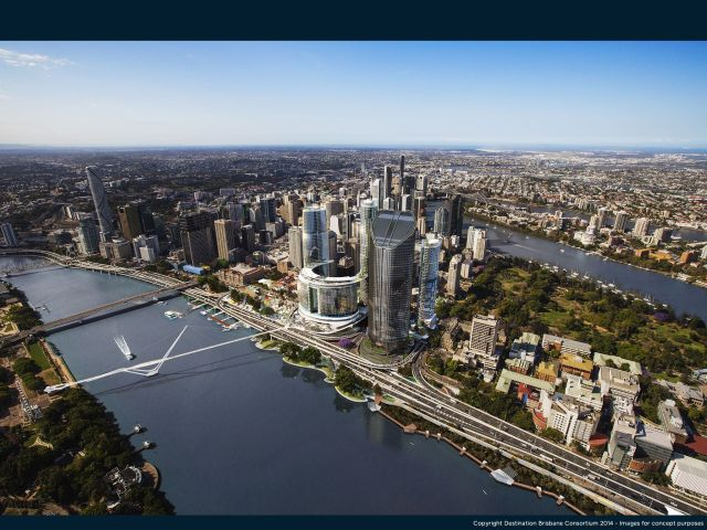 Proposed Queens Wharf development in Brisbane
