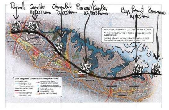 Chris Johnson's proposed Central Metro Line (source: Chris Johnson/SMH)