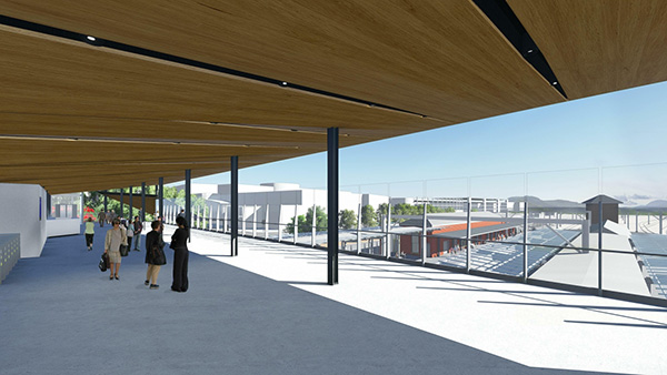 Penrith Station view from upgraded concourse (source: Transport for NSW)