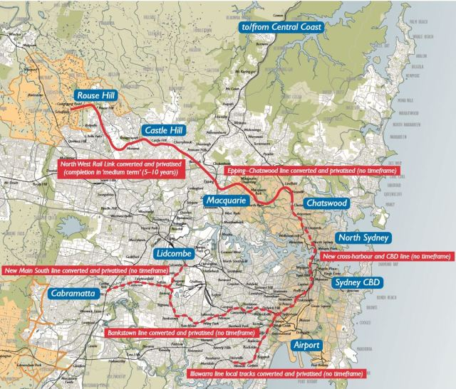 Sydney Metro (Sydney Rapid Transit) earlier proposal