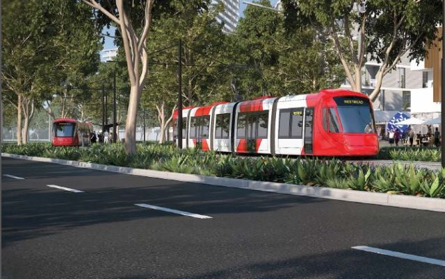Artist's impression Parramatta Light Rail (source: Parramatta Light Rail Industry Briefing documentation)