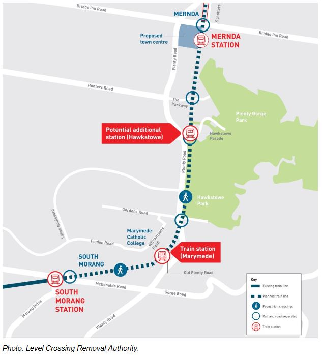 Mernda rail line extension