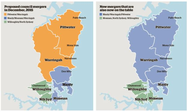 Warringah Council mergers (source: Fairfax Media)