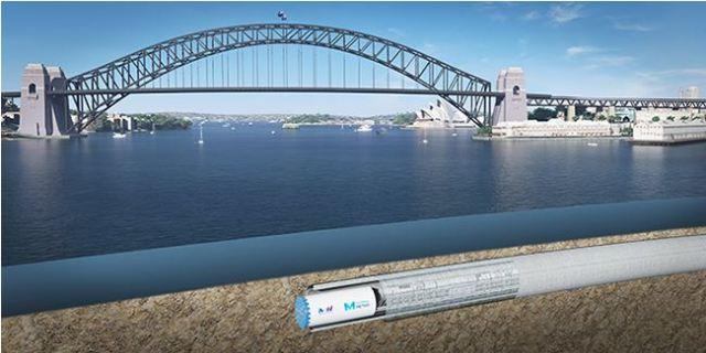 Metro under Sydney Harbour (artist impression - source: Transport for NSW)