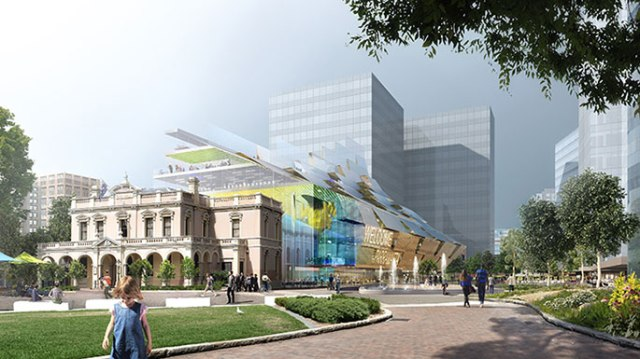 Artist's impression of new building for Parramatta Square