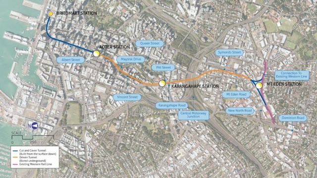Auckland city-rail-link-route