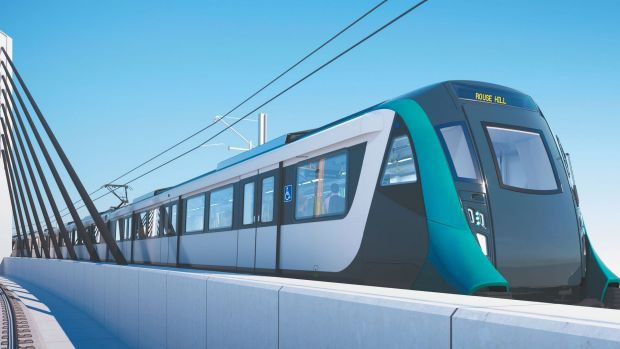 Artist impression of Sydney metro train. Source: NSW Government