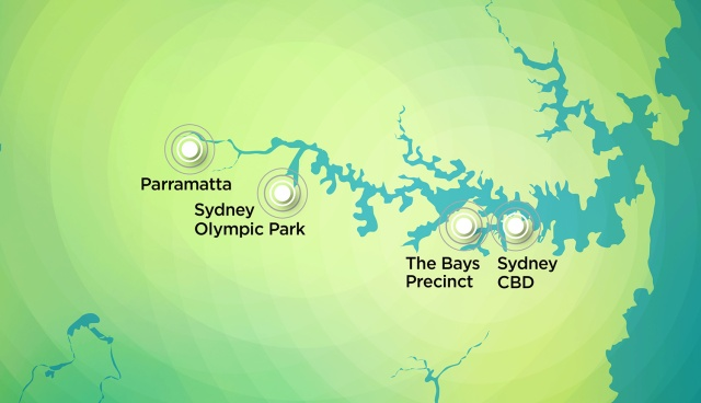 More unknowns than knowns - the only map available from Transport for NSW relating to the Sydney Metro West proposal